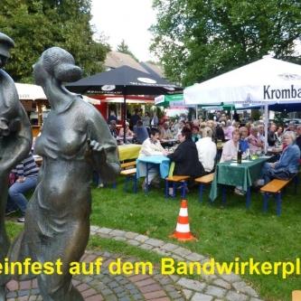 2015.08  1. Weinfest  auf dem Bandwirkerplatz