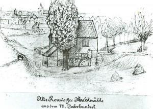 1785 alte Mehlmühle