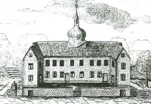 1859 Zeichnung ref. Schulhaus