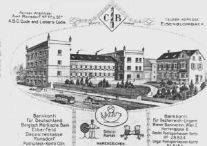 1875 Briefkof Fa. Blombach