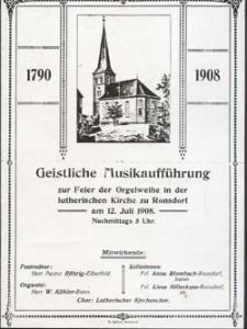 1909 Einweihung Orgel