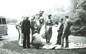 1980 Enthüllung Bandwirkerdenkmal